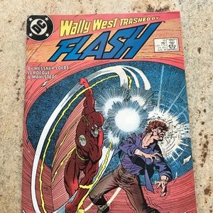 Flash August 1988 75 cents  Wally West Trashed
